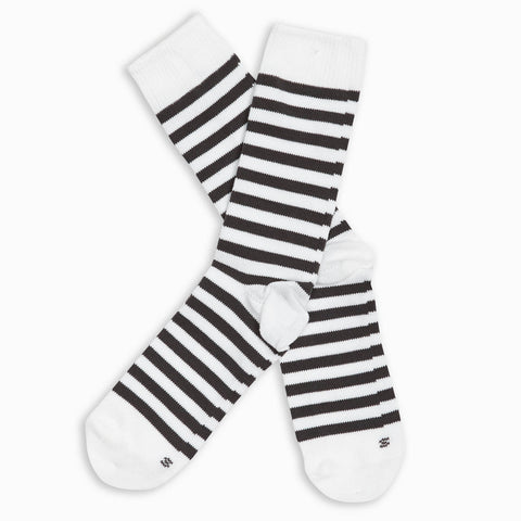 Men Gray Stripe Crew Sock