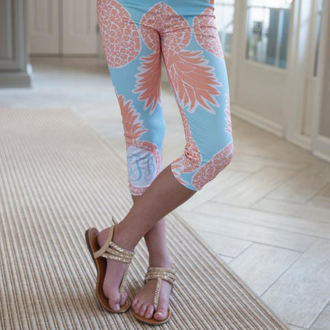 Girls Pineapple Arden Capri Leggings