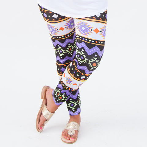 Girls Halloween Aztec Arden Leggings