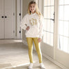 Girls Gold Metallic Arden Leggings