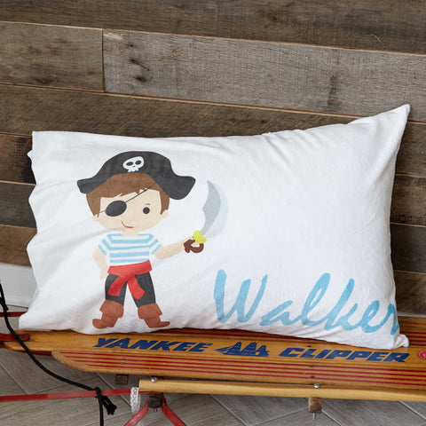 Pirate Name Minky Pillowcase
