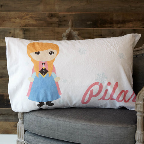 Minky Princess Name Pillowcase