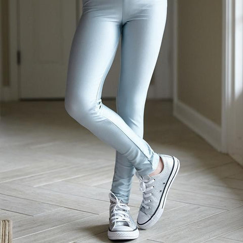 Girls Silver Metallic Arden Leggings