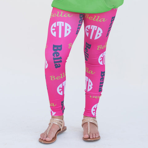Girls Name & Initials Arden Leggings