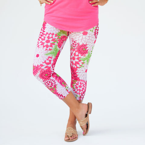 Ladies Custom Print Zinnies Arden Leggings