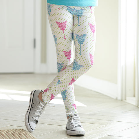 Girls Apple Dot Feather Arden Leggings