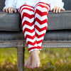 Red Chevron Ruffle Footless Tights