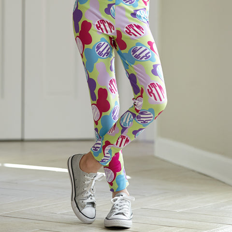 Girls Bunny INITIALS Arden Leggings