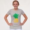 Gray Pineapple Initials Tee