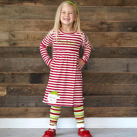 Red Stripe Empire Dress