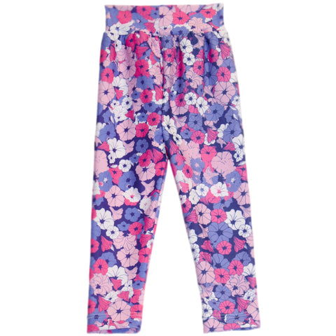 Baby Girls Floral Pansies Ireland Leggings