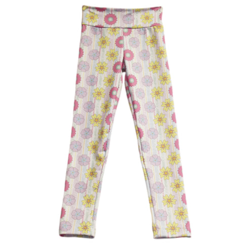 Girls Flower Stripe Arden Leggings