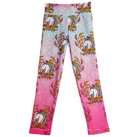 Girls Unicorn Wreath Arden Leggings