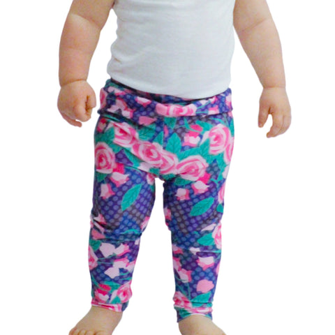 Baby Girls Rose Dot Chevron Ireland Leggings