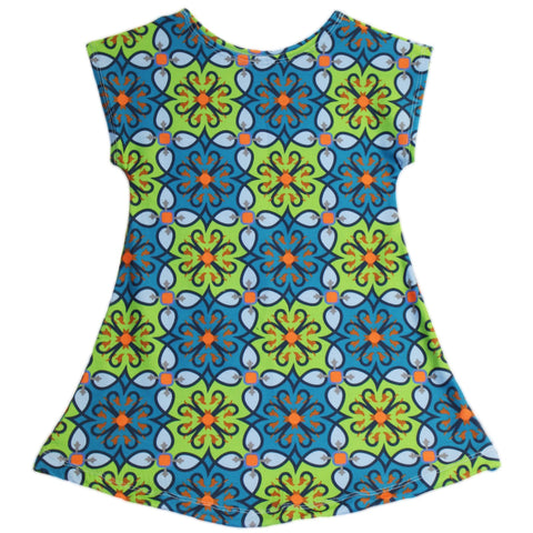 Baby Girls Blue Green Swatches Eva Dress