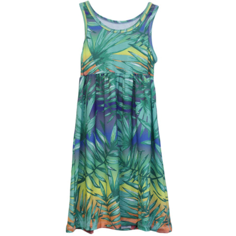 Tropical Rainbow Ombre Jada Tank Dress
