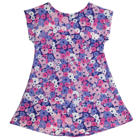 Baby Girl Floral Pansies Eva Dress