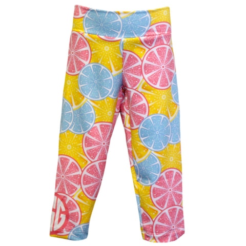 Girls Orange Slices Arden Leggings