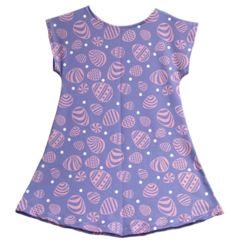 Baby Girls Purple Easter Dot Eva Dress