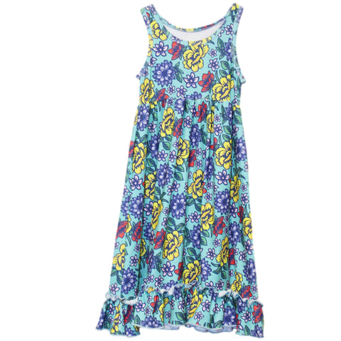 Baby Girls Turquoise Rose Jaden Tank Dress