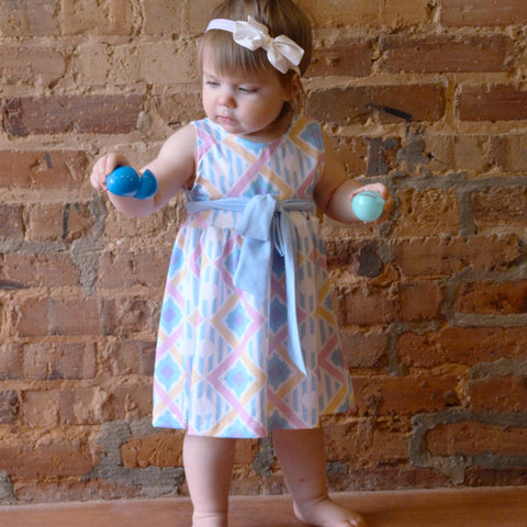Baby Girls Easter Polka Dot Sash Ava Dress