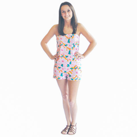 Hawaiian Flamingo Amelia Romper