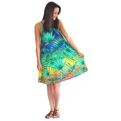 Tropical Rainbow Ombre Lilian Dress