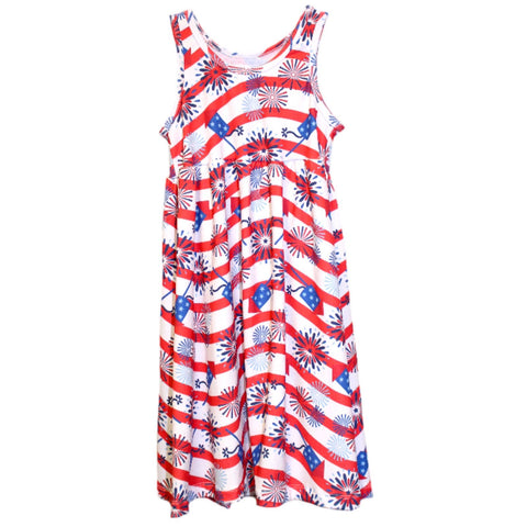Baby Girls Firework Wave Jada Tank Dress