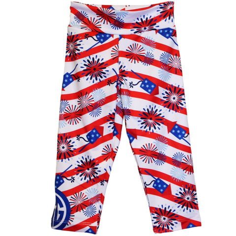 Girls Firework Wave Arden Capri Leggings