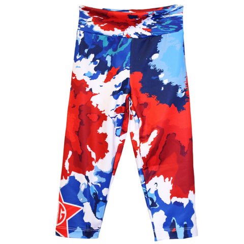 Girls Tye Dye Swirl Arden Capri Leggings