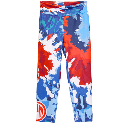 Ladies Tye Dye Swirl Arden Capri Leggings