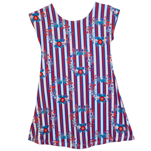 Baby Girl USA Wreath Stripe Eva Dress