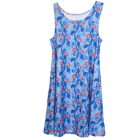 Patriotic Vines Rose Swing Dress