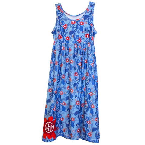 Baby Girls Patriotic Vines Jada Tank Dress
