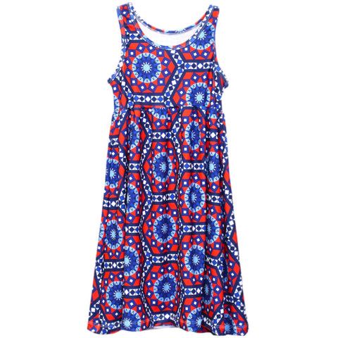 Baby Girls Tile Hexagon Jada Tank Dress