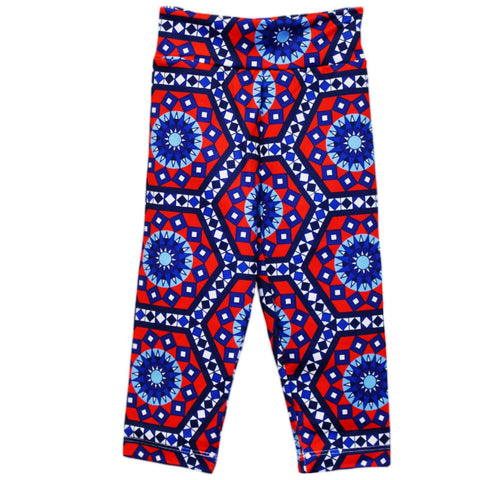 Girls Tile Hexagon Arden Capri Leggings