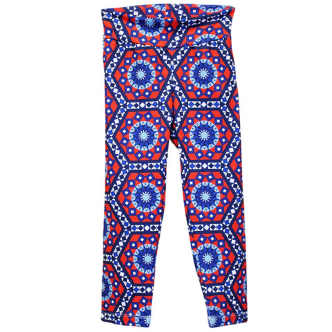Ladies Tile Hexagon Arden Capri Leggings