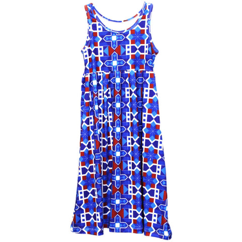 Baby Girls Mosaic Patriot Jada Tank Dress