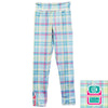 Girls Tiffany Plaid Initials Arden Leggings