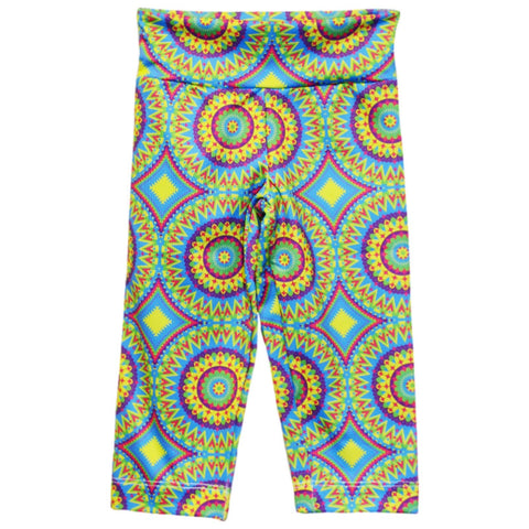 Bright Kaleidoscope Arden Capri Leggings