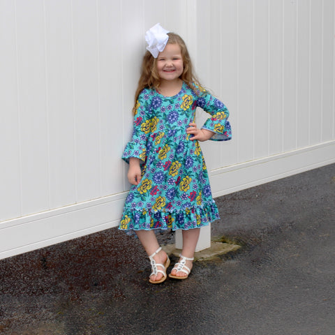 Turquoise Rose Livvy Dress