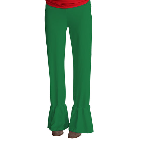 Ladies Green Ruffle Pant