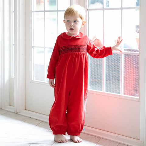 Red Corduroy Smock Bubble