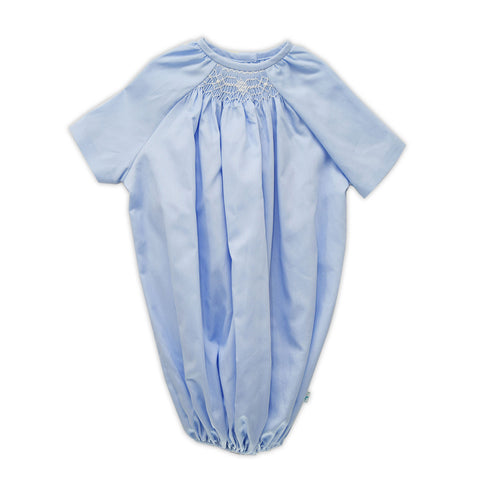 Light Blue Pique' Smocked Layette