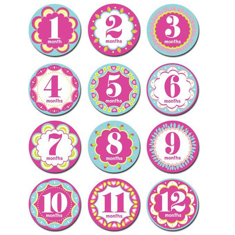 Monthly Kaleidoscope Cutie Milestone Stickers