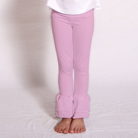 Girls Light Pink Ruffle Leggings