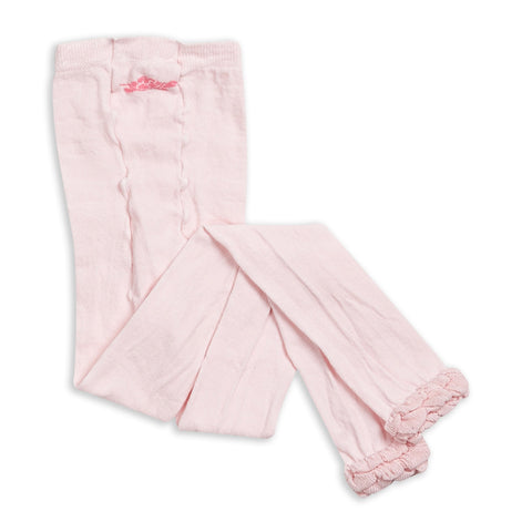 Light Pink Ruffle Footless Tights