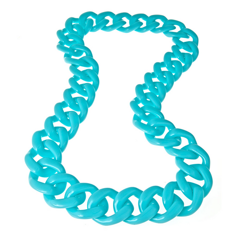Long Aqua Shelby Necklace