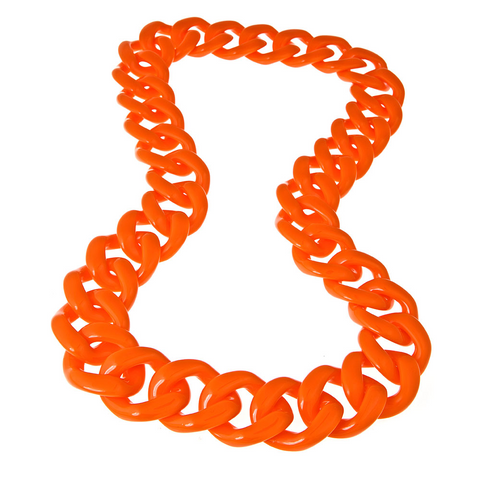 Long Orange Shelby Necklace