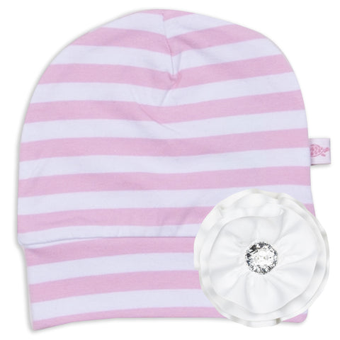 Light Pink Stripe Hat